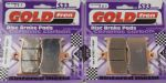 "675 STREET TRIPLE ""R"" 2009-15: ""FULL FRONT SET"" Goldfren ""HH"" GF-207HH Brake Pads 2 pairs S33 Racing."